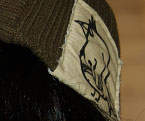 Patch Beanie - Hand printed and sewn