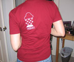 Rain/Snow Vneck - Unisex Back View